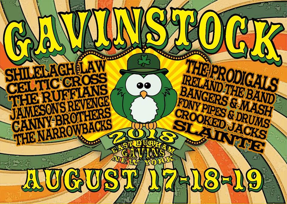 2018 GAVINSTOCK with Shilelagh Law and 10+ Bands!
