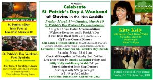 Reserve St. Patrick's Day Weekend today!