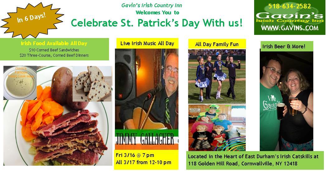 St. Patrick's Day Happenings at Gavin's