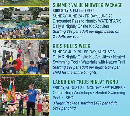 Summer Value Midweek package Kids Stay & Eat for free June 24-June 29