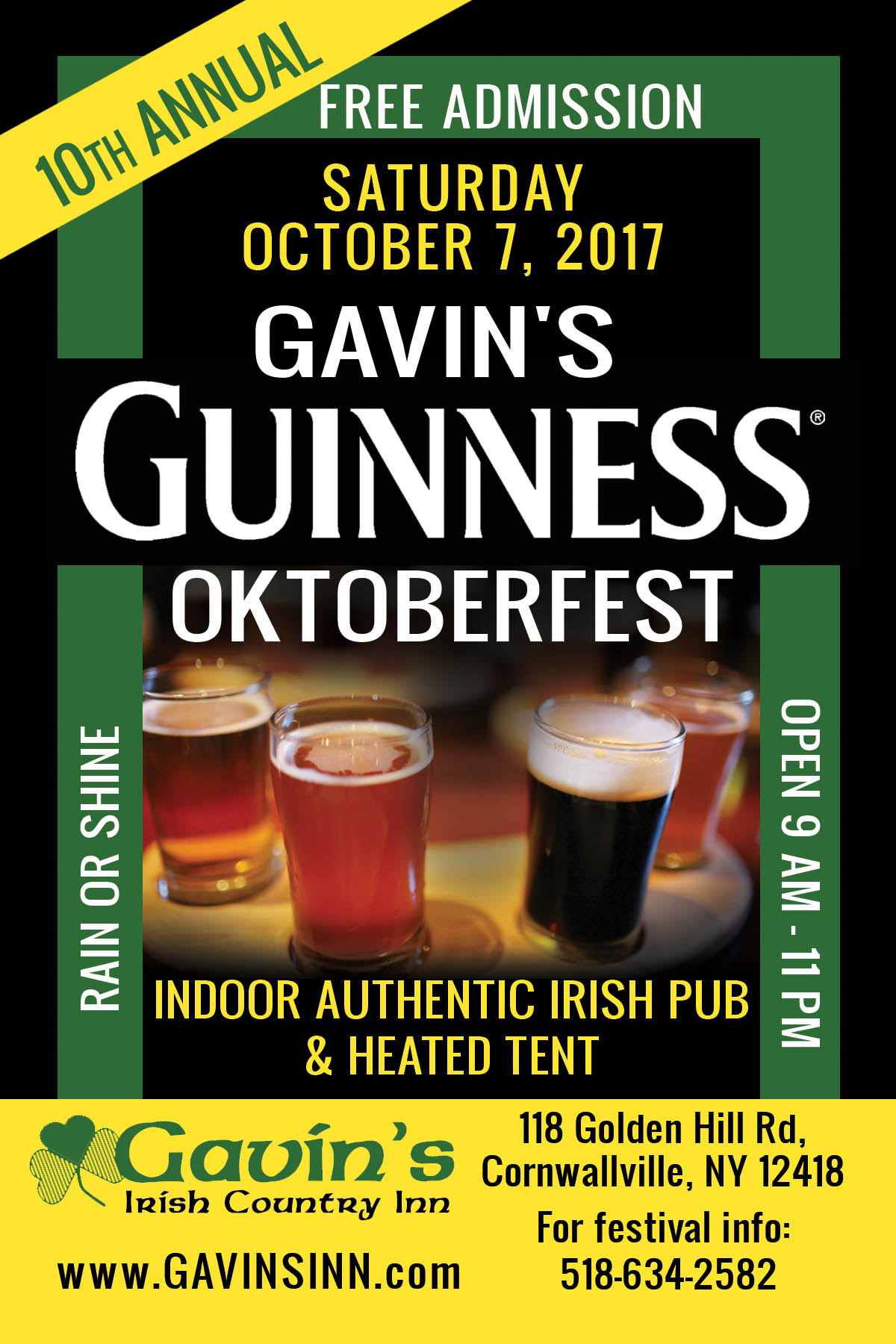 12th Guinness Oktoberfest Weekend @ Gavin's