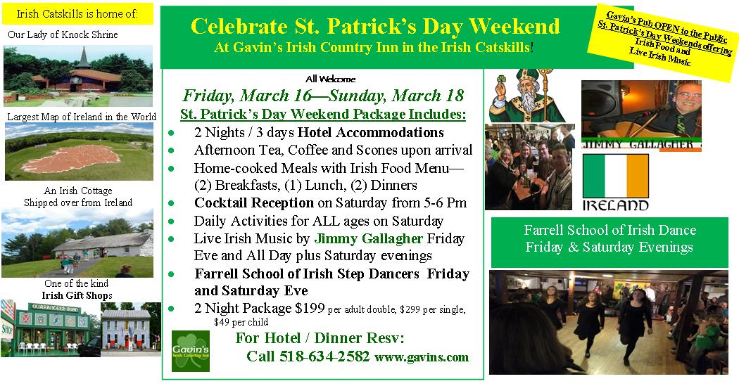 St. Patrick's Day Weekend Package