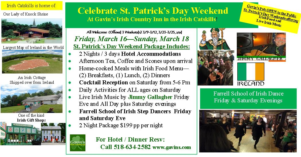 St. Patrick's Day Weekend Packages
