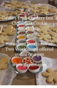 Christmas Cookie Workshop #1 @ Gavin's Irish Country Inn