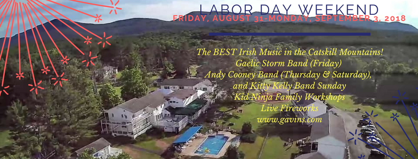 Labor Day Weekend; Gaelic Storm Band, Fireworks, Ninja Warrior Kid Workshops