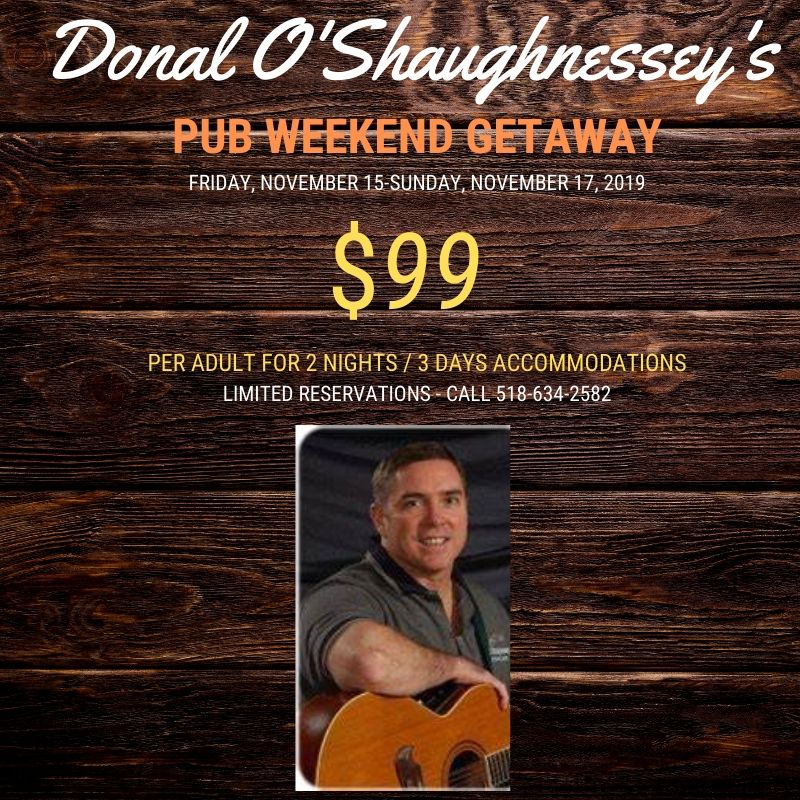 Donal O'Shaughnessy Irish Pub and Pre-Holiday Weekend