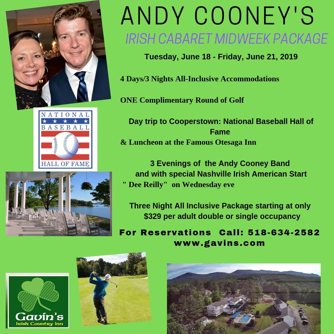 Andy Cooney Irish Cabaret Midweek