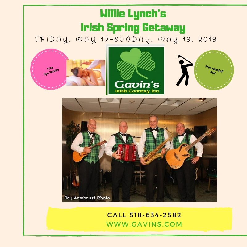 Willie Lynch's Irish Spring Getaway; Free Golf/Spa Service!