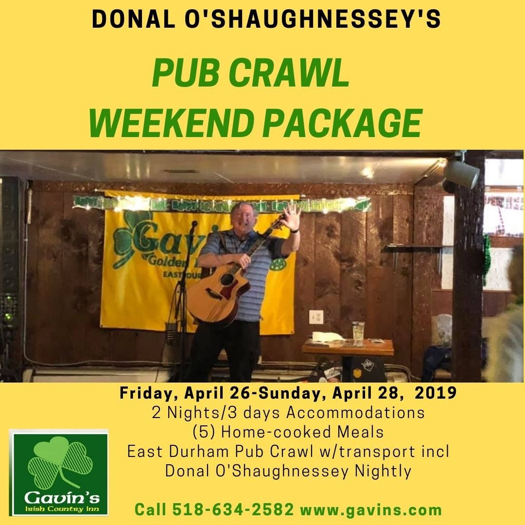 Donal O'Shaughnessey Pub Crawl Weekend Getaway